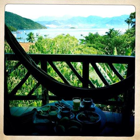 Pousada Naturalia: View from sea-view room balcony, and hammock