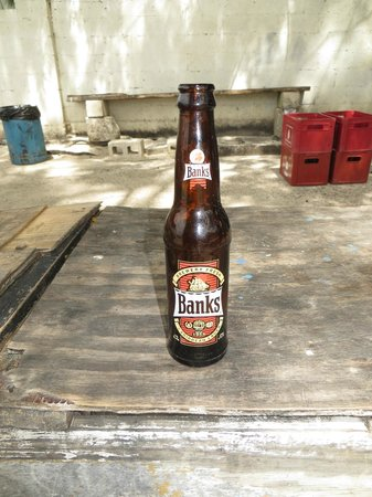 Cuz's Fish Shack: Had to have a Banks Barbados Beer too