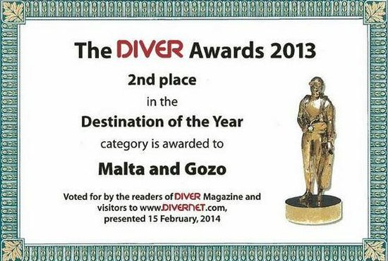 Starfish Diving: Diver Awards for Malta
