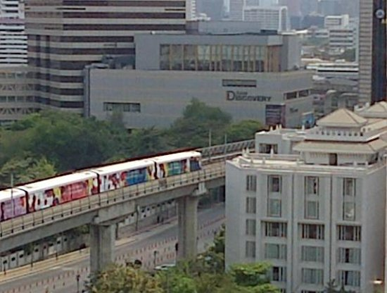 Evergreen Place Bangkok: SkyTrain vers le Siam Center