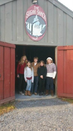 One of many visits to the Sugar Shack.