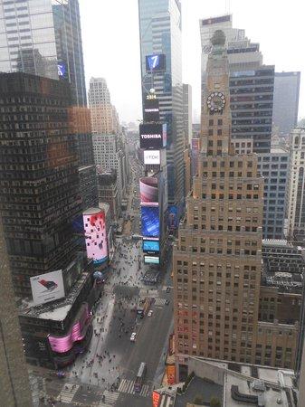 New York Marriott Marquis : la vue depuis la chambre au 32 eme étage
