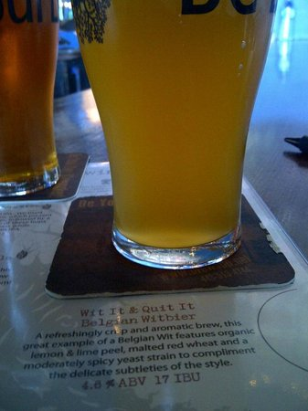 Burley Oak Brewing Company: My wife's Wit Beer