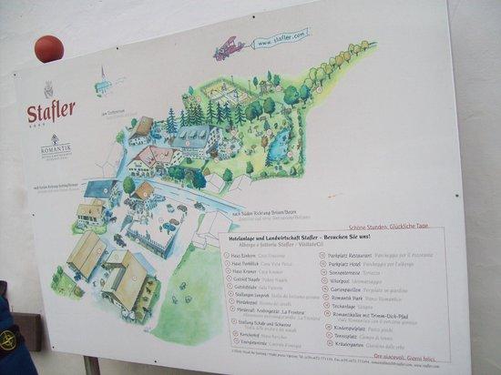 Romantik Hotel Stafler : Pianta del complesso