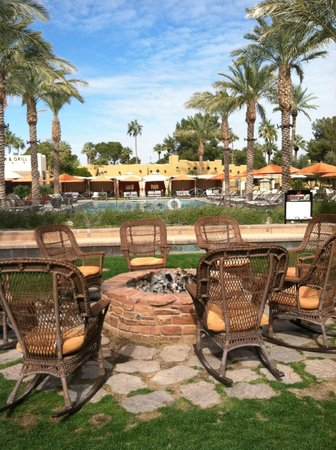 The Wigwam: Awesome fire pits and networking areas