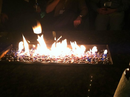 The Wigwam: Loved the tables with the built in fire pits