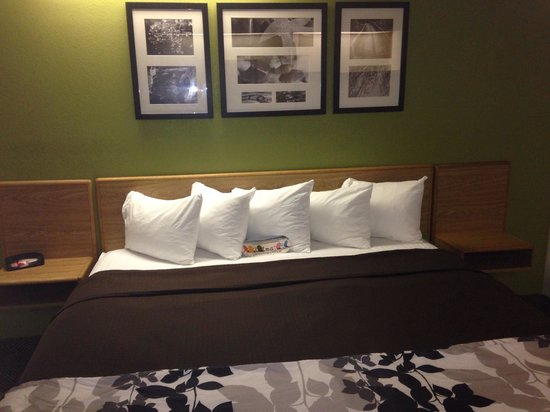 Sleep Inn: King Room with new bedding :o)