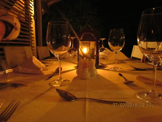 Kapama Southern Camp : Dinner was served after a fantastic game drive .