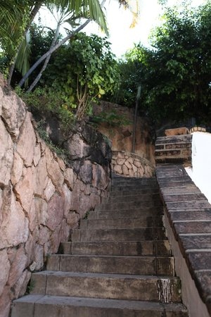Old Vallarta: Stairs leading up to