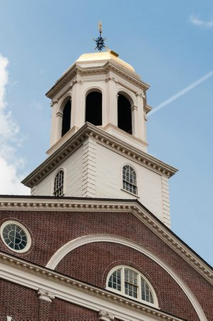 Faneuil Hall Historic Site: Cupola with Gilded Grasshopper Weathervane