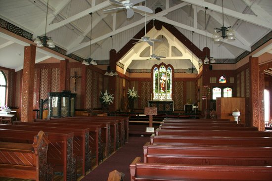 St. Faith's Anglican Church: Inside with its Maori decoration