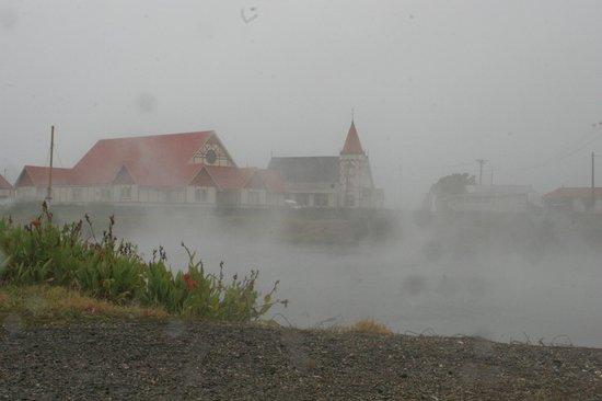 St. Faith's Anglican Church: St Faith's set by a steaming pool.