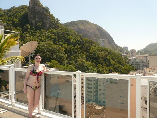 Atlântico Copacabana Hotel : View from the rooftop pool area