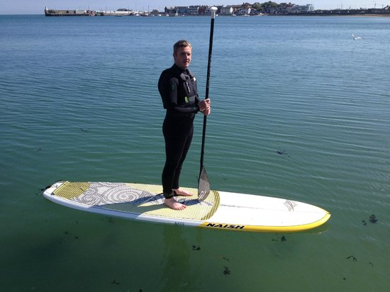 SUPing on the North Beach in Skerries with Outdoor Dublin