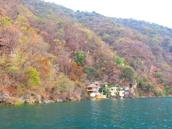 Kaalpul Atitlan Eco Hotel & Spa: Hotel from boat.
