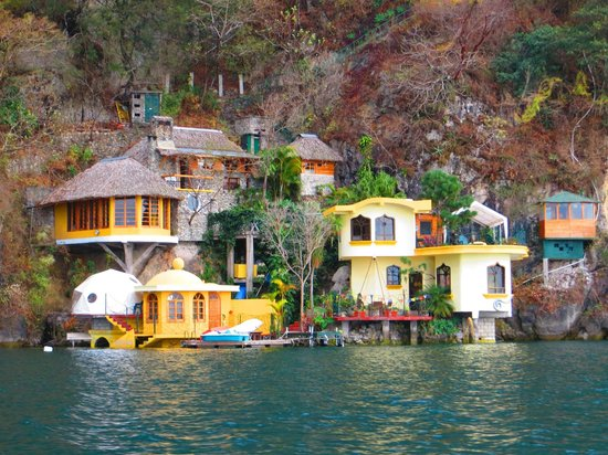 Kaalpul Atitlan Eco Hotel & Spa: Hotel from boat