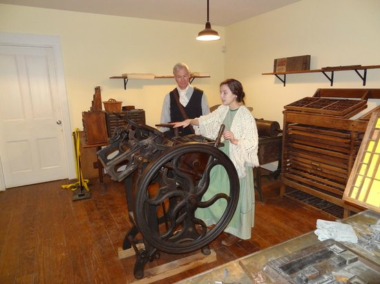 Heritage Village Museum: Print shop with working equiptment