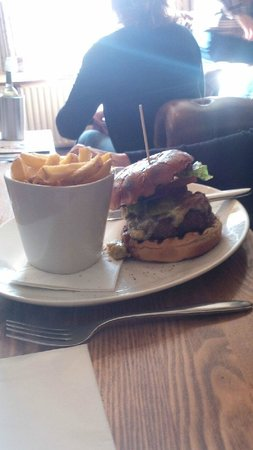 The Stag on the river: Burger was very good indeed