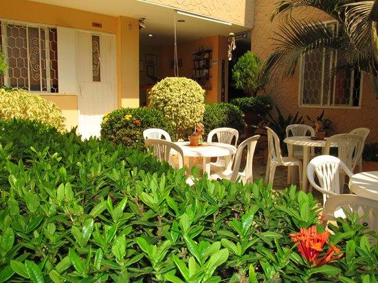 Hotel Casa D'mer Taganga : Patio central con mucho verde