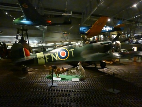 Norsk Luftfartsmuseum: A Spitfire operated by the Royal Norwegian Air Force.