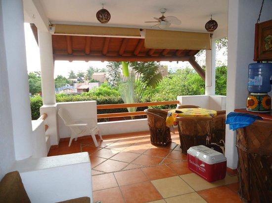 Villa El Arca: el balcon