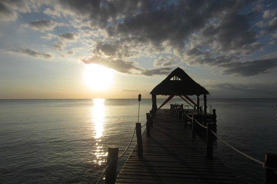 Secrets Aura Cozumel: pier out front of property