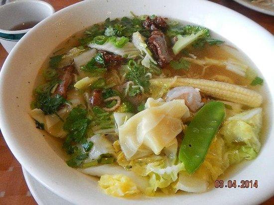 Pho Vietnam: egg noodle won ton