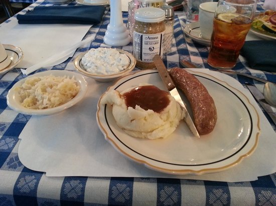 Colony Village Restaurant: bratwurst plate