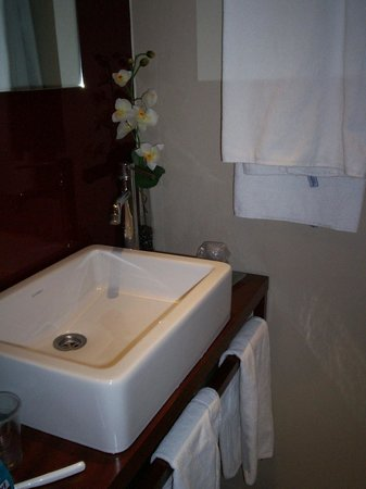 Wilson Boutique Hotel : Salle de bain peu intime