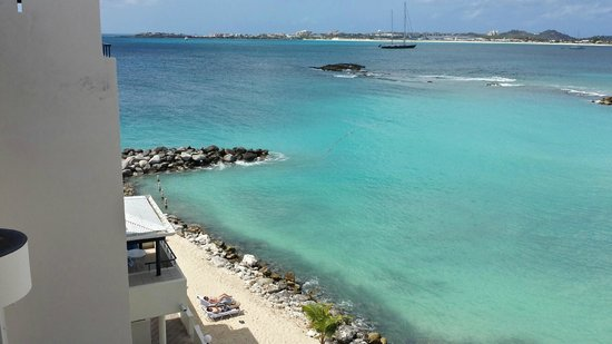 Flamingo Beach Resort: view from our room