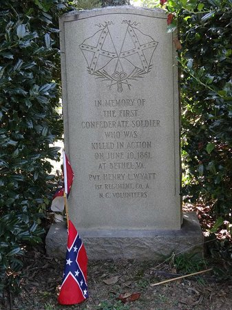 Hollywood Cemetery: First confederate soldier killed June 10, 1861