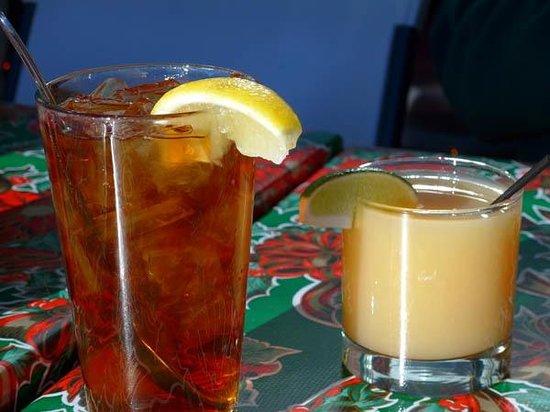 Ketch Joanne Restaurant & Bar : Ice tea and grapefruit juice