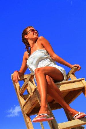 Otium Hotel Amphoras: Классный высокий стул на пляже