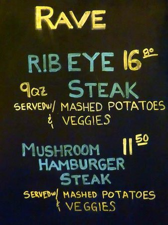 Rave Burger: Daily Special