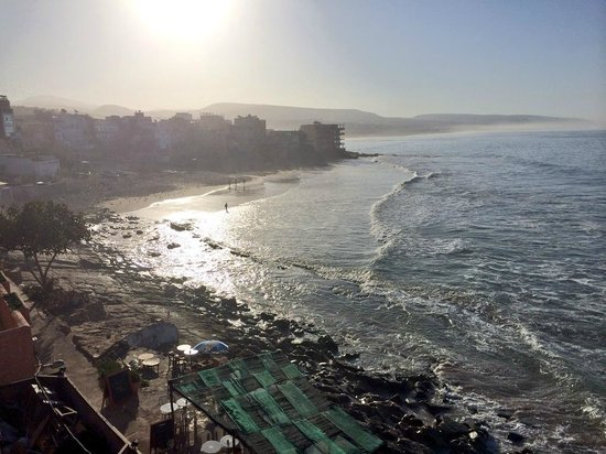 Hashpoint Surf Camp: Taghazout bay from the roof