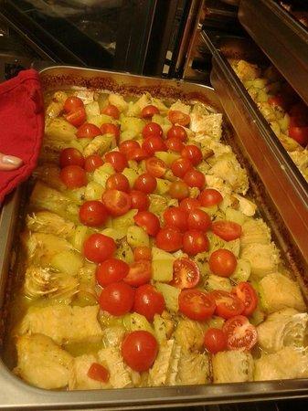 L'Ara della Regina: Baccalà al forno con patate e pomodorini pachino