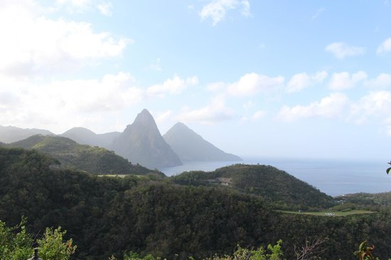 Anse Chastanet: view from anse mamin trails
