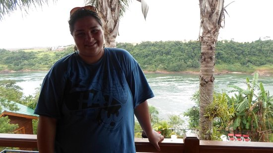 Costa del Sol Iguazu: Vista desde el balcón de la habitación principal de la cabaña Anchico