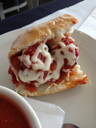 DeVivo Bros. Eatery: 1/2 Meatball Sandwich (served at lunch with soup or salad)