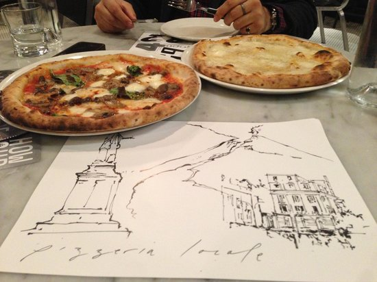 Pizzeria Locale: Great place mats and even better food