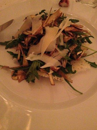 Sensus Restaurant: salade d'artichaut et fromage