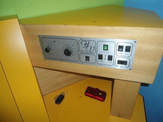 Hotel Vouga : controles do quarto