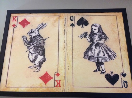 The Mad Hatter Hotel: the great picture in my room