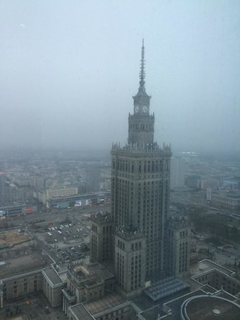 InterContinental Warszawa : Great view from the 43rd floor pool
