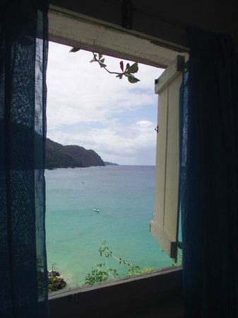 Blue Mango: View of Castara Bay from one of our windows