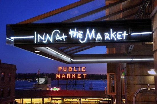 Inn at the Market: IATMNeon At Sunset