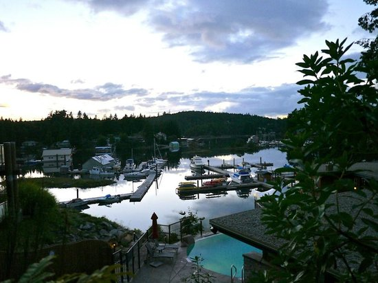 Painted Boat Resort: View from pool onto marina