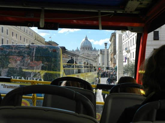 City Sightseeing Rome : vista do onibus