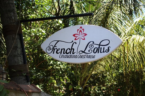 French Lotus Guest House: Sign board
