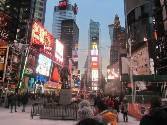 Uhrzeit Am Time Square In New York Times Meydanı New York City